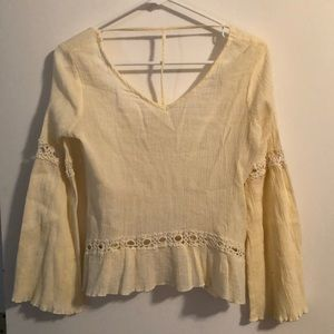 Altar'd State Lace hippie Boho Chic crepe blouse